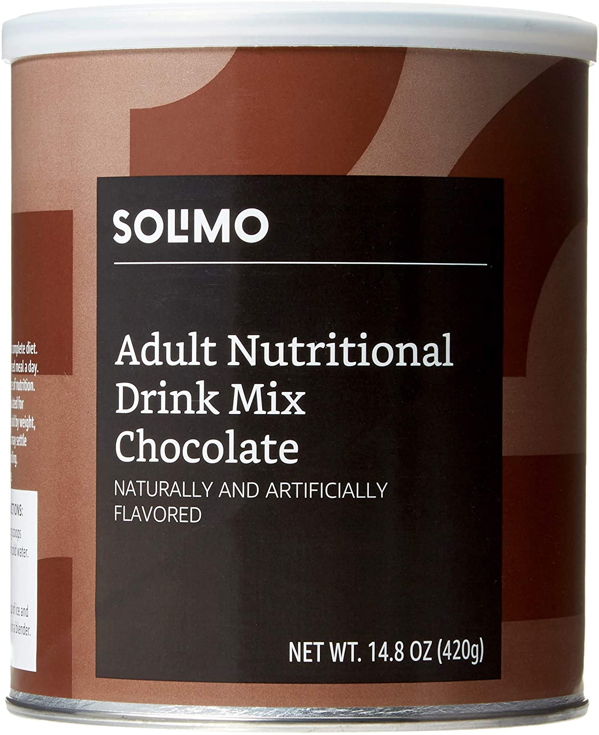 DHgate Brand - Solimo Adult Nutritional Drink Mix Powder, Meal Replacement, Chocolate Flavor, 14.8 Ounce, 7 Servings