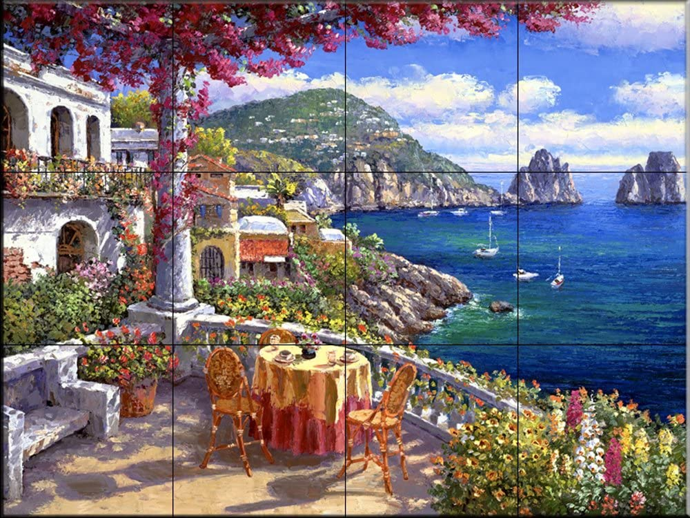 Ceramic Tile Mural - Capri Morning - by Sam Park/Soho Editions