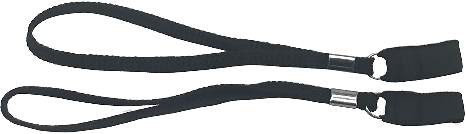 Classy Walking Canes CWCWR1 Wrist Straps for Canes – 2 Pack, Black with Stretchable Elastic Straps. Walking Cane Leash, Lanyard
