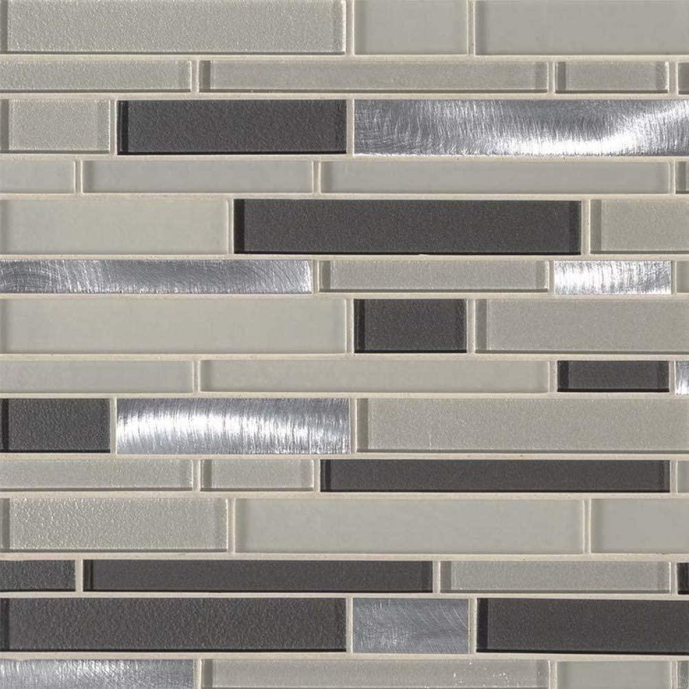 Urbanka Interlocking Pattern Glass Metal Mosaic, 20 SFT/case, (20 Pcs)