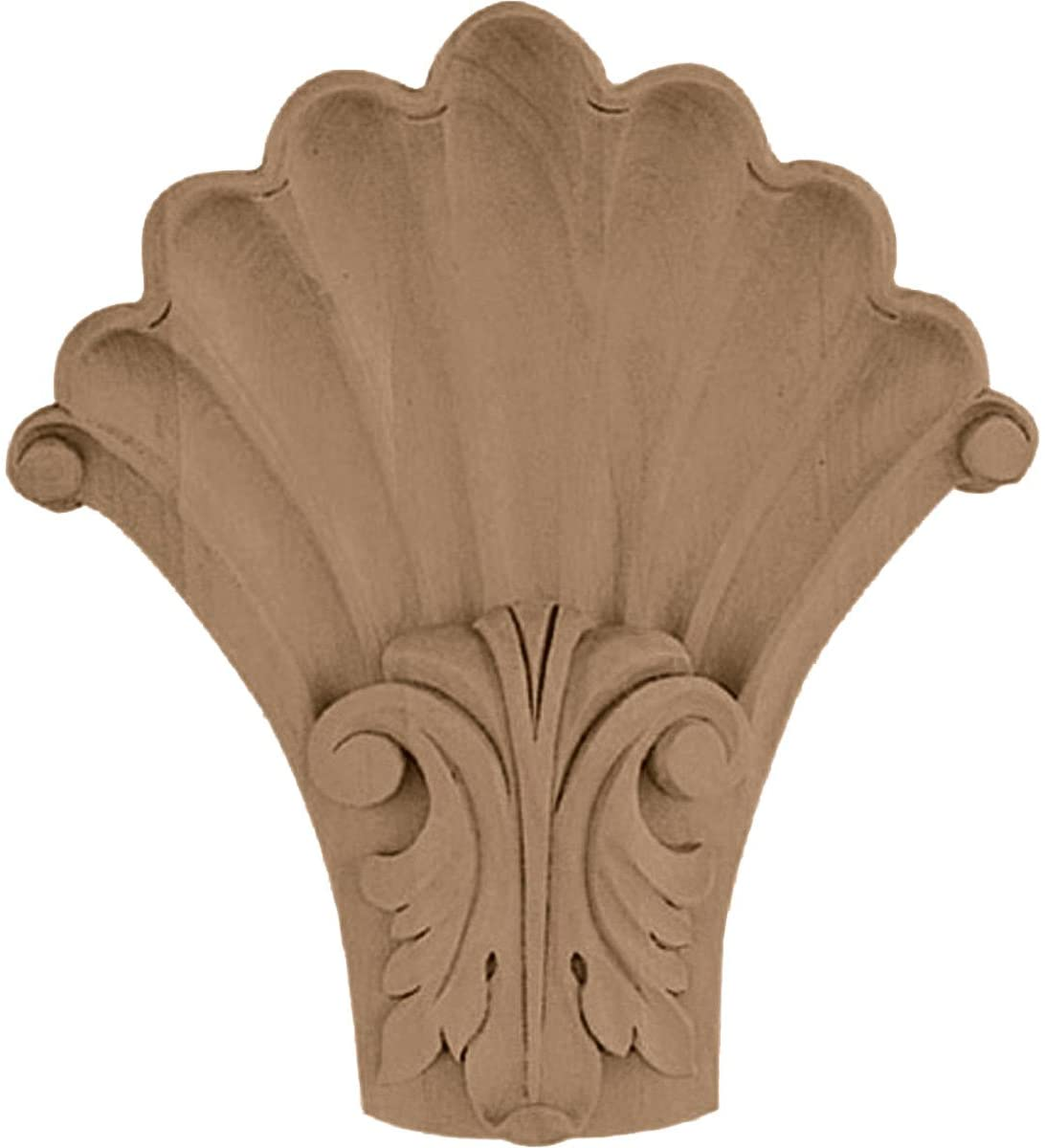 Ekena Millwork COR05X01X06SHCH-CASE-6 5 1/4 inch W x 2 inch D x 6 1/2 inch H Medium Acanthus in Shell Corbel, Cherry (6-Pack),