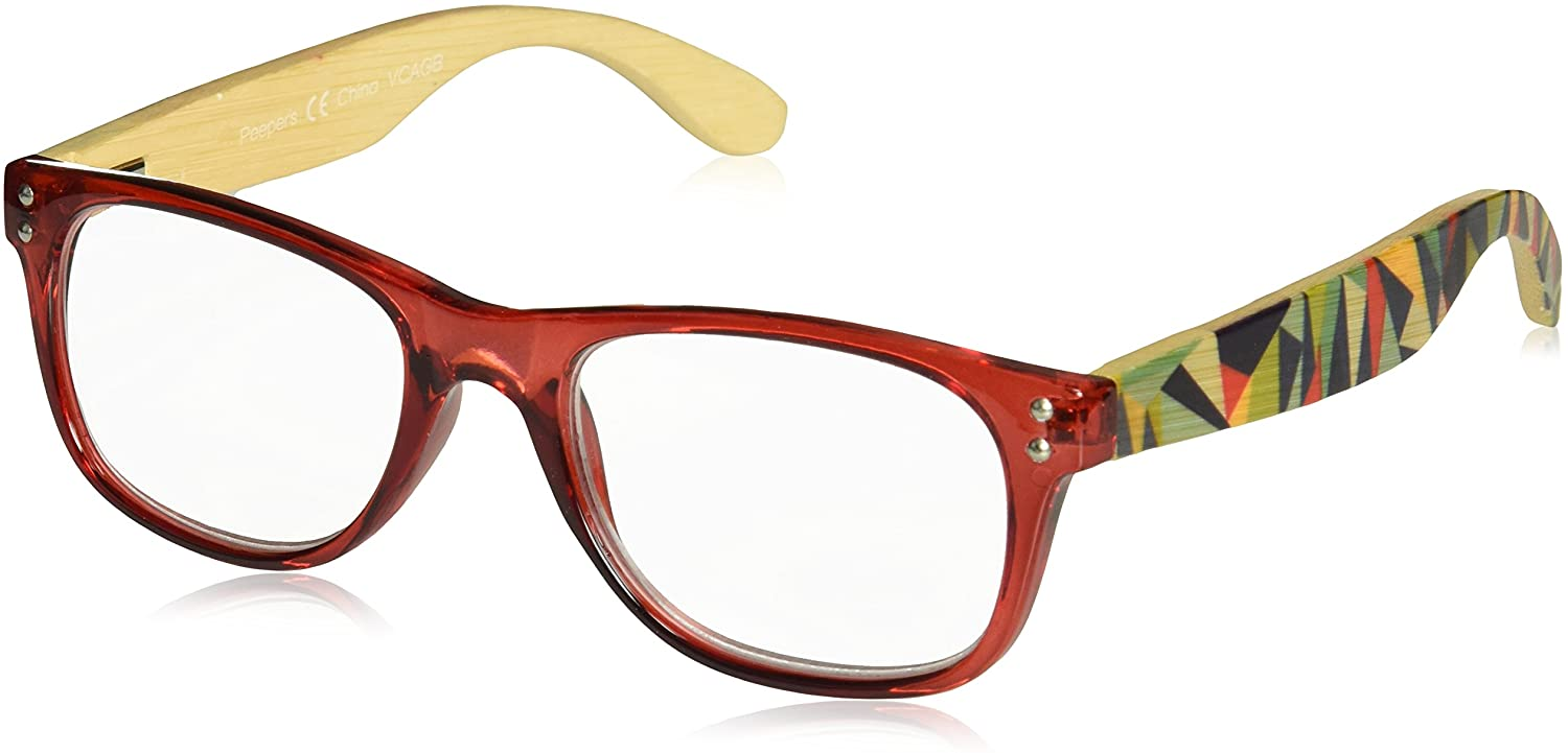Peepers by PeeperSpecs unisex-adult Redwoods Square Reading Glasses
