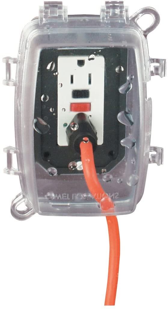 Intermatic WP1150C 1 Gang Vertical/Horizontal 4-3/4-Inch Deep Weatherproof Box, Clear, Color