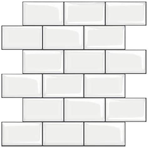 STICKGOO 10-Sheet White Subway Tiles Peel and Stick Backsplash, Stick on Tiles Kitchen Backsplash (Thicker Design)