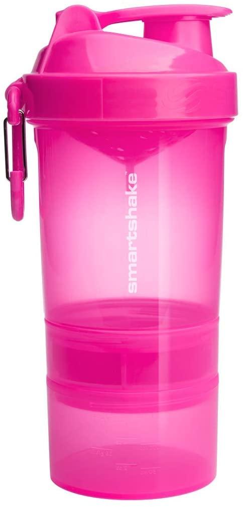 Smartshake Original 2GO, 20 oz Shaker Cup, Pink (Packaging May Vary)