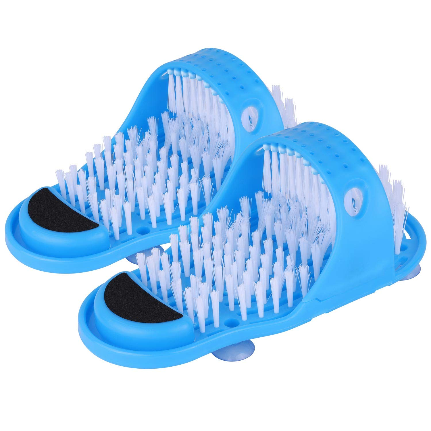 Magic Foot Scrubber Feet Cleaner Washer Brush for Shower Floor Spas Massage, Slipper for Exfoliating Cleaning Foot 1 Pair