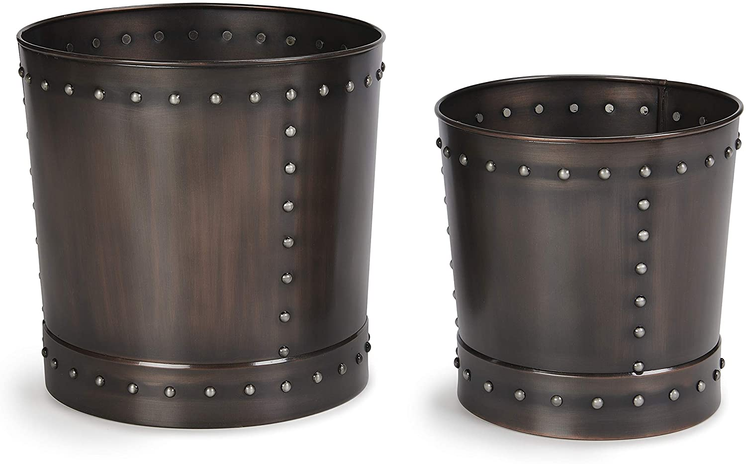 Good Directions P1215B Unique Large Riveted Bronze Set of 2 for Outdoor or Indoor Use, Garden, Deck, and Patio Planter