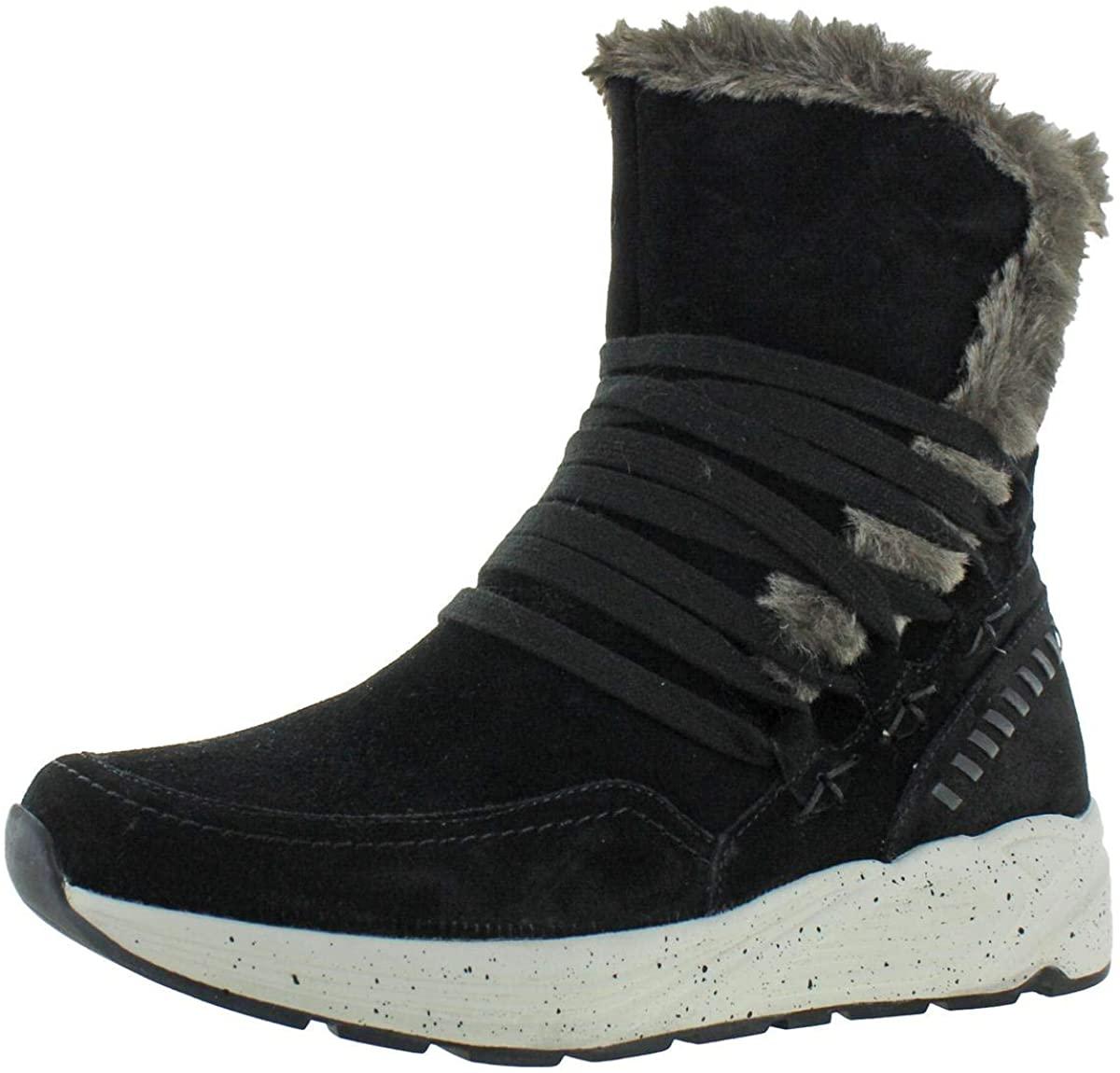 Earth Womens Roamer Suede Faux Fur Winter Boots