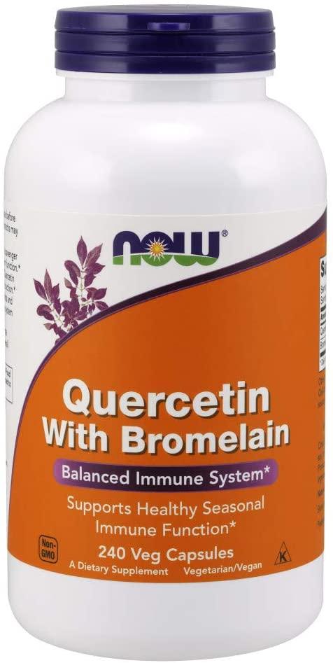 NOW Supplements, Quercetin with Bromelain, Balanced Immune System*, 240 Veg Capsules