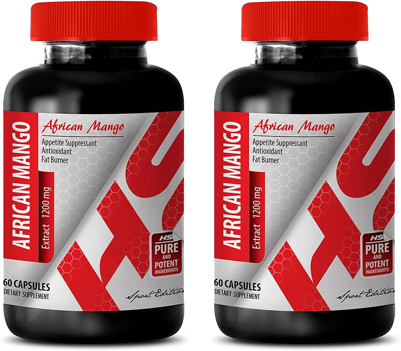 Fat Loss Burner - African Mango 1200MG - African Mango Complex - 2 Bottles (120 Capsules)