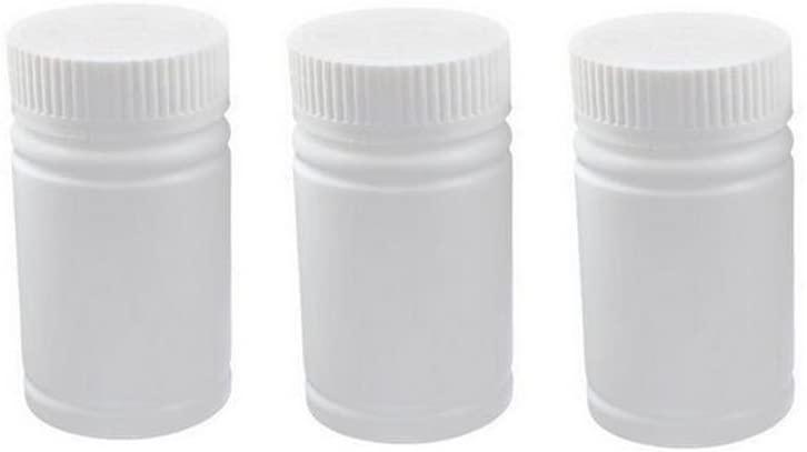 60ml 2oz White Empty Portable Plastic Solid Powder Medicine Bottles Pill Tablet Holder Storage Case Container Box (6pcs)