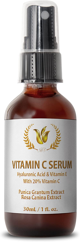 Serum for Skin Vitamin c Big - Vitamin C SERUM with HYALURONIC Acid and Vitamin E - Anti Wrinkle moisturizer - 1 Bottle