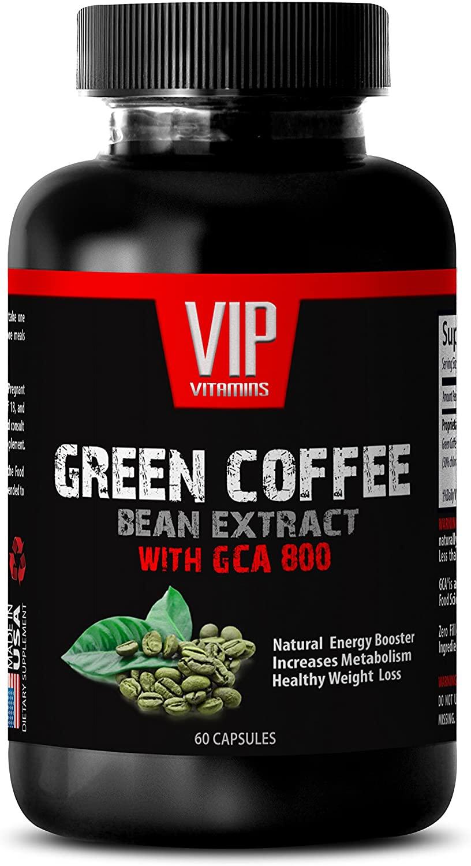Fat Burners for Men - Green Coffee Bean Complex 800MG - Natural Energy - Fat Burner - Premium - Green Coffee Bean Chews - 1 Bottle (60 Capsules)