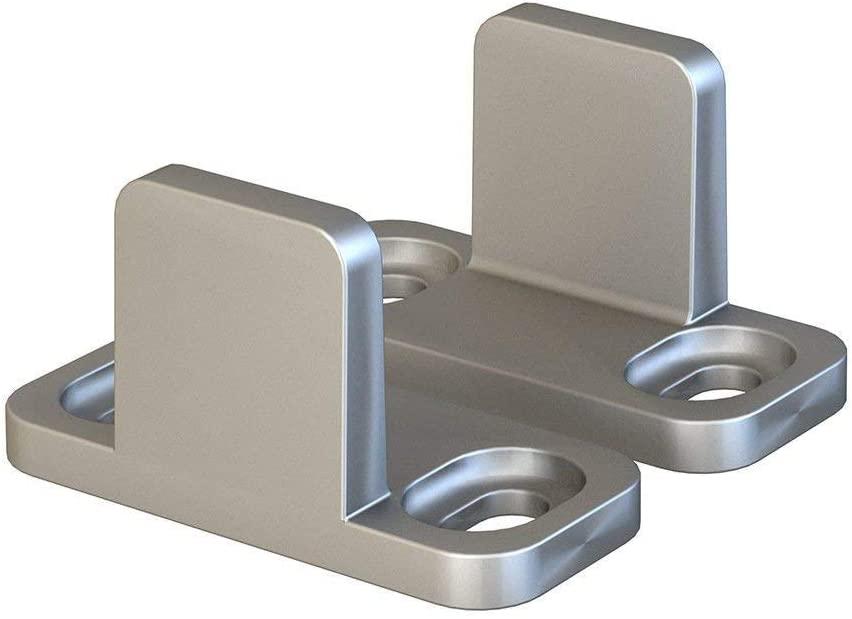 JUGREAT Barn Door Floor Guides Silver Floor Guide for Sliding Barn Door Hardware Aluminum Set of 2