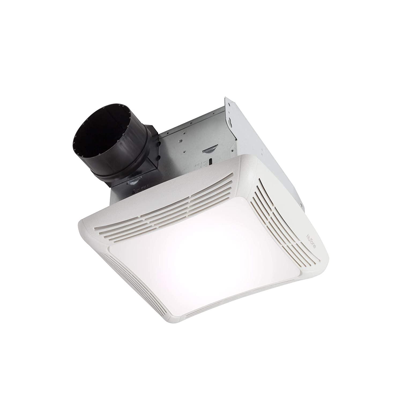 Nutone 763 Ventilation Fan with Light 120 Volt AC 50 CFM at 0.1 Inch Static Pressure 39 CFM at 0.25 Inch Static Pressure White Broan