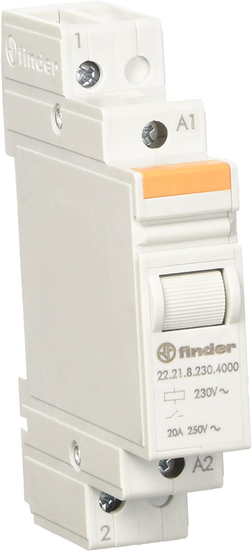 Finder 222182304000pas Modular Relay 230VAC 1NO 20A agsno2