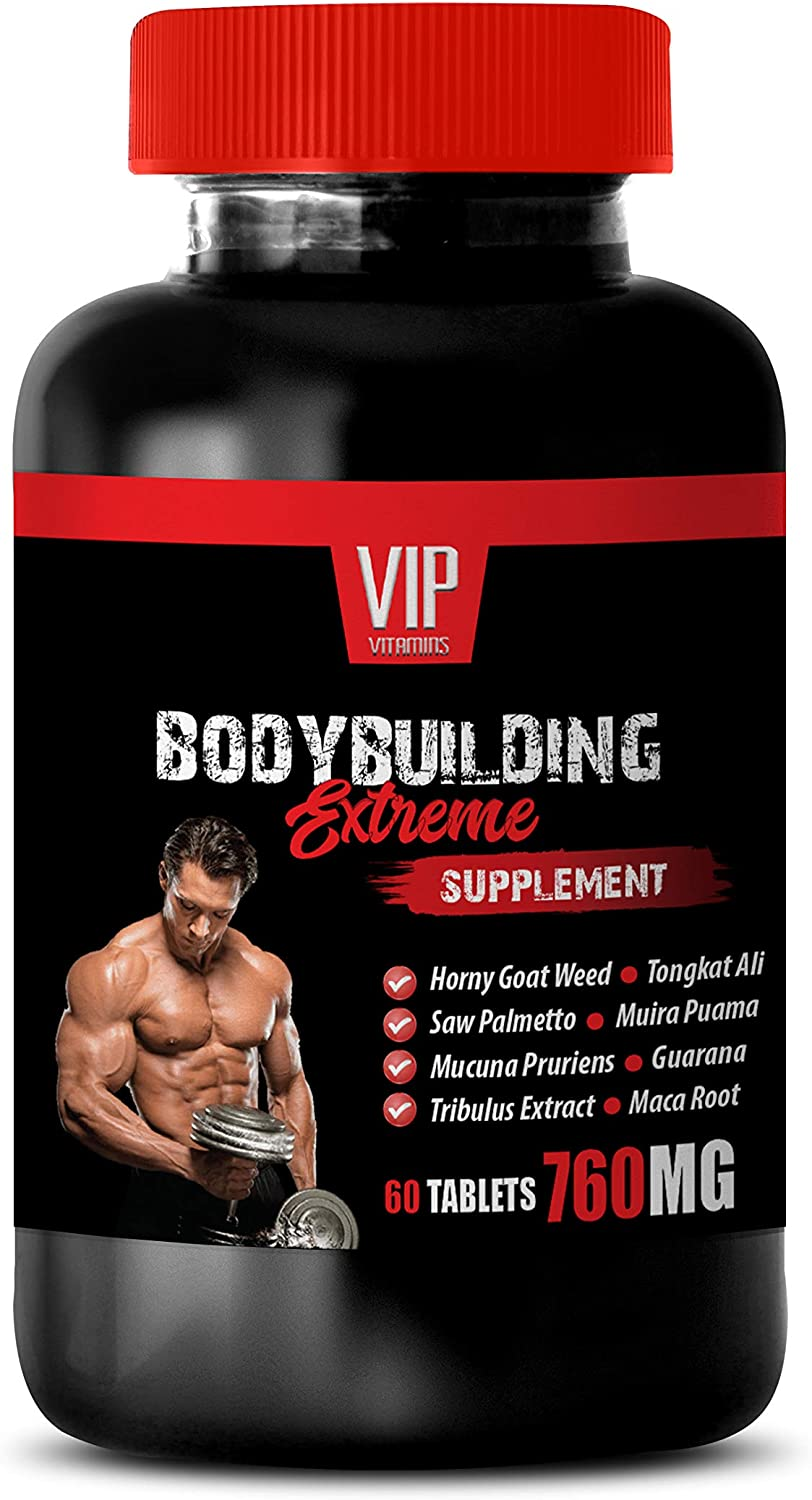 Bodybuilding Supplements - Body Building Extreme 760MG for Men - Natural and Powerful Formula - New Complex - maca Man - 1 Bottle (60 Tablets)