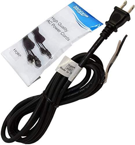 HQRP AC Power Cord 8ft compatible with DeWalt D26441 D26450 D26451 D26453 DW411 DW412 DW441 Random Orbit Palm Sander Mains Cable Repair