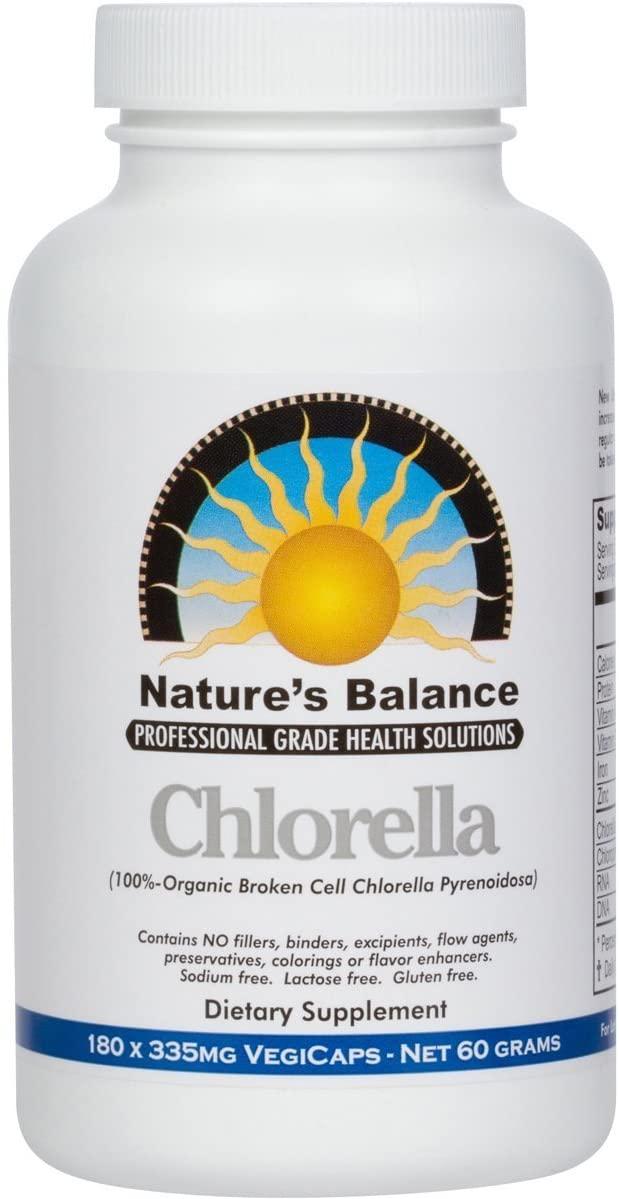 100% Pure Premium Grade Chlorella Pyrenoidosa by Nature's Balance - 180 Capsules (Pack of 2)