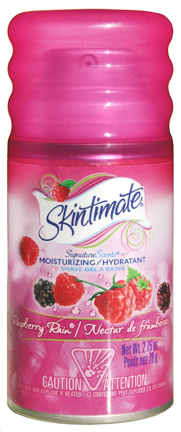 Skintimate Signature Scents Moisturizing Shave Gel for Women Raspberry Rain with Vitamin E and Olive Butter - 2.75 Ounce