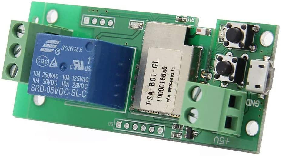 QinMei Zhou USB 5V DIY 1 Channel Jog Inching Self-Locking WiFi Wireless Smart Home Switch Socket APP Remote Control