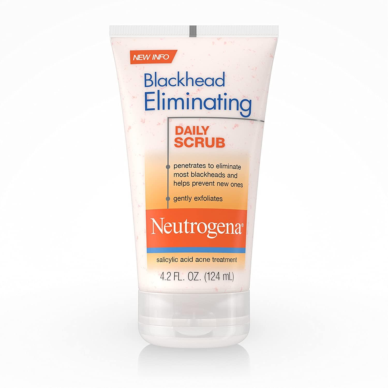 Neutrogena Blackhead Eliminating Daily Facial Scrub With Salicylic Acid Acne Medicine, Exfoliating Face Wash for Blackheads, 4.2 oz