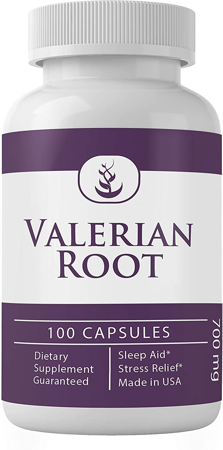 Valerian Root (100 Capsules, 700 mg Serving) 100% Pure & Natural, Gluten-Free
