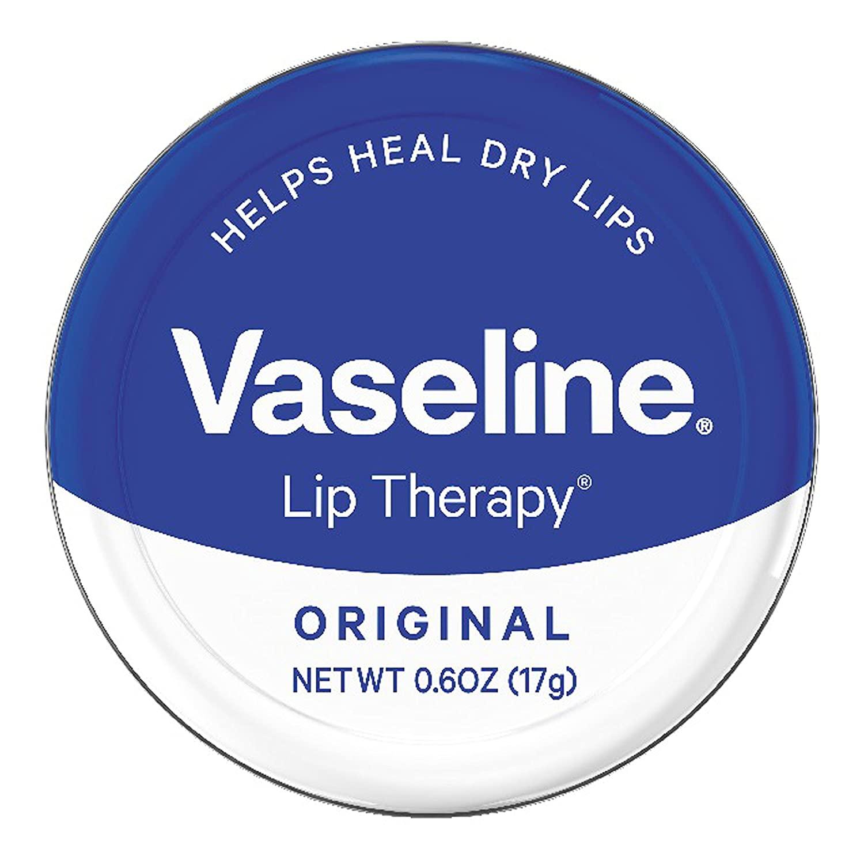 Vaseline Lip Therapy Lip Balm Tin, Original, 0.6 oz