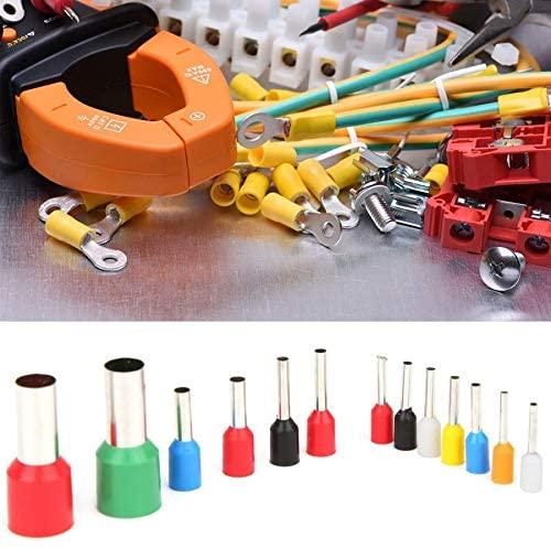 Davitu Electrical Equipments Supplies - 2120PCS Electrical Wire Connectors E0508 - E16-12 VE Tube Type Pre-Insulated Wire Terminals Assortment Terminal Set