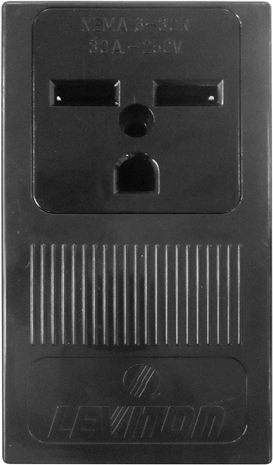 Pass & Seymour 1232CC6 Surface Mount Power Receptacle, 30-Amp, 250-volt, Black