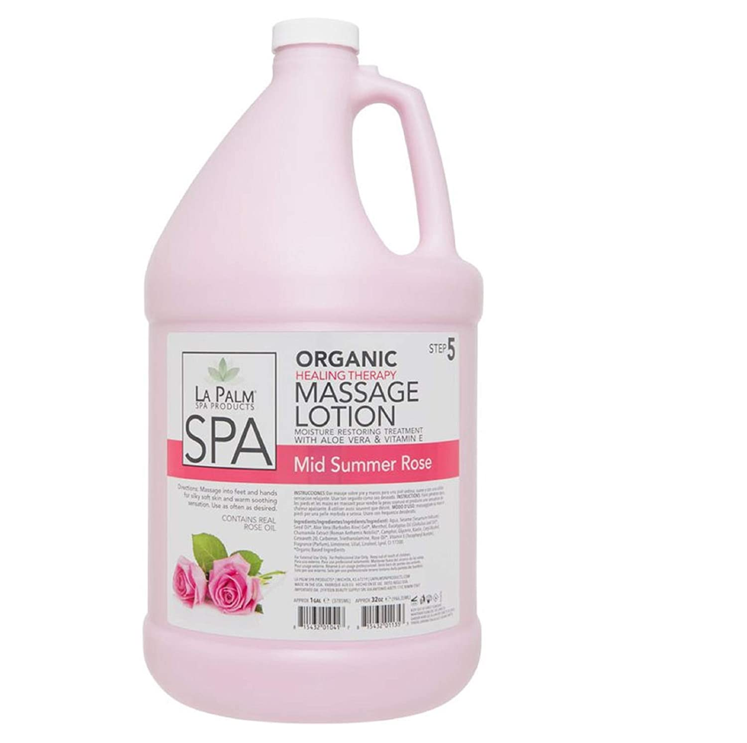 Healing Therapy Massage Lotion - Mid Summer Rose - 1 Gallon Refill Size