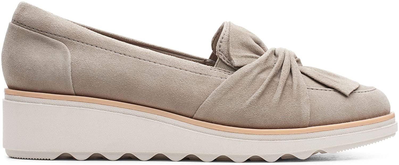 Clarks Womens Loafers, Beige Sage Sage, 8 us