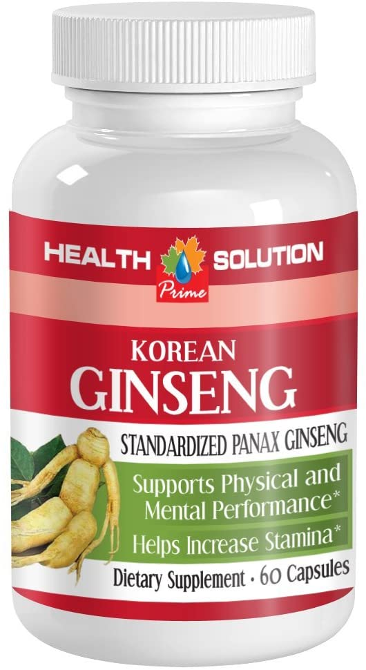 Korean Ginseng Capsules - Korean Ginseng - Boost Athletic Performance (1 Bottle)