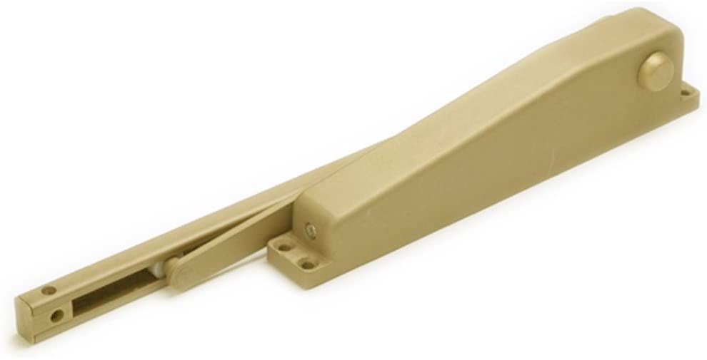 Global Door Controls Residential Mini Door Closer in Brass