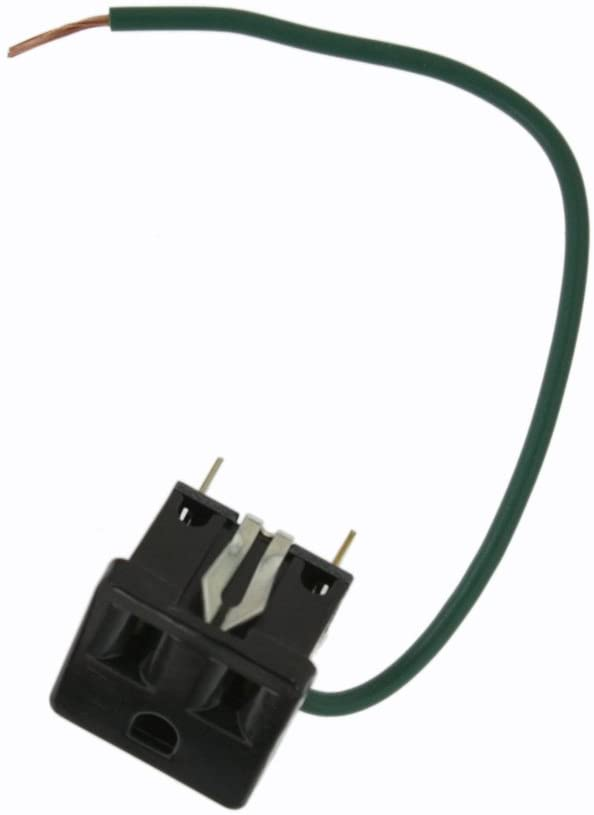 Leviton 1374-500 Snap-In Receptacle, 2 Pole-3 Wire, 15A-125V, Mounting Clip