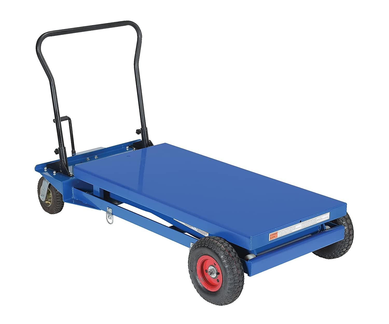 Vestil CART-PN-1000 Pneumatic Tire Hydraulic Cart, 1000 lb. Capacity