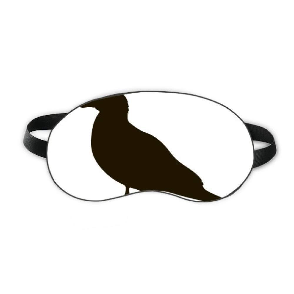 Black Seagull Animal Portrayal Sleep Eye Shield Soft Night Blindfold Shade Cover