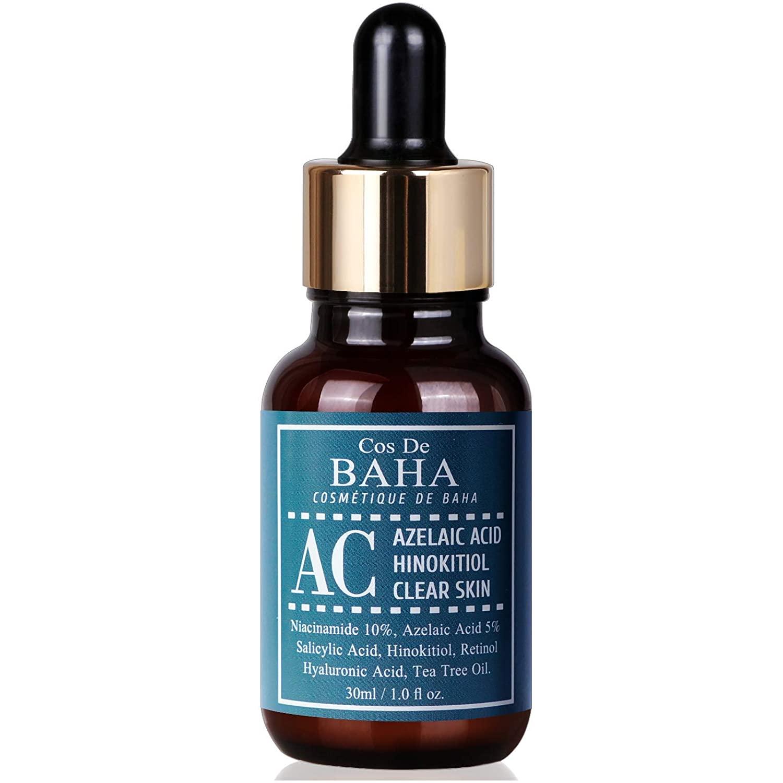 Acne Treatment Serum 1oz with Azelaic acid 5%, Niacinamide 10%, Salicylic Acid, Retinol, Tea Tree - Cystic Acne, Age-Defying Formula 1oz(30ml)