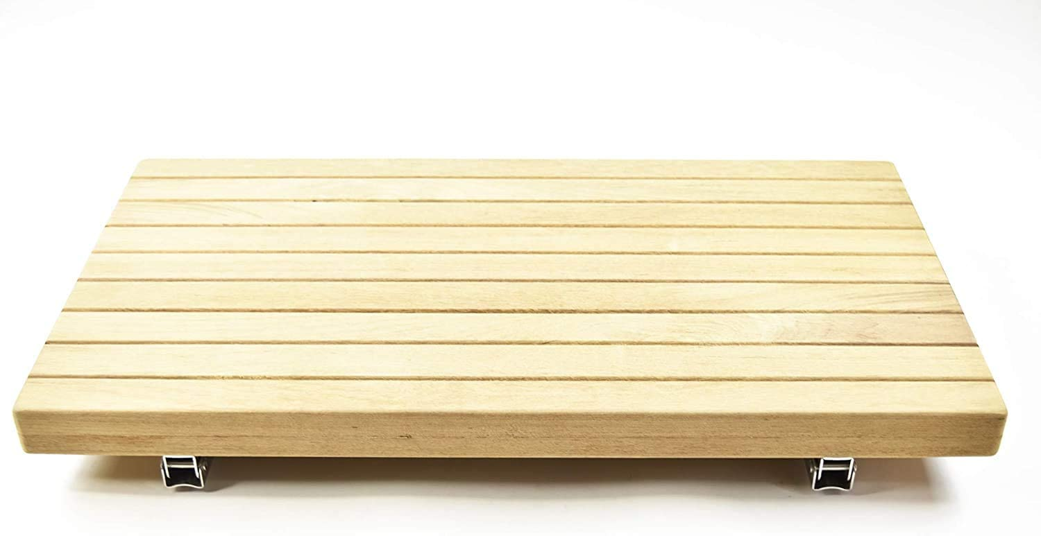 Marine City 24 Inches × 13 Inches Well Mount Fold Down Bench/Seat with Slats for Boat, Shower Room, Steam, Sauna Room