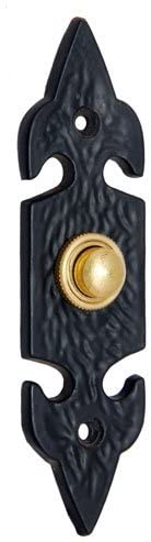 Adonai Hardware Decorative Iron Bell Push or Door Bell or Push Button