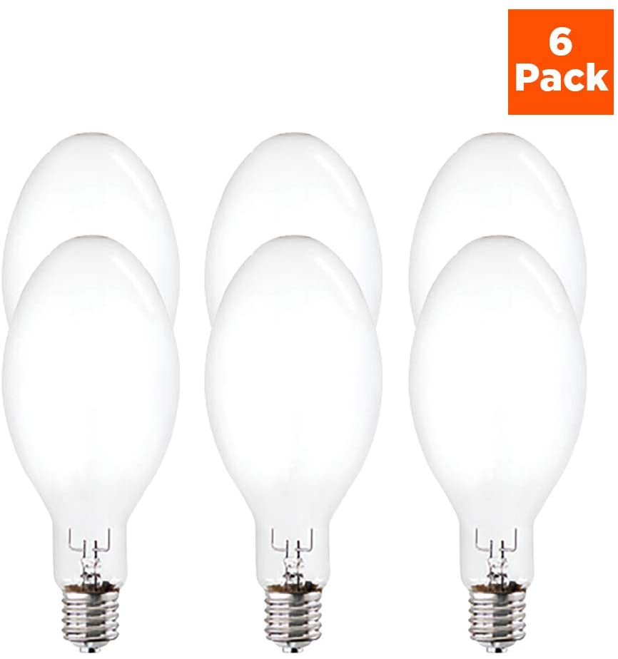 PQL Metal Halide Bulb - 400 watt & E39 Mogul Base - Features 4000K Color Temperature & ED37 Shape - Perfect for Parking Lots and Retail Lighting - Pack of 6 - by GoodBulb