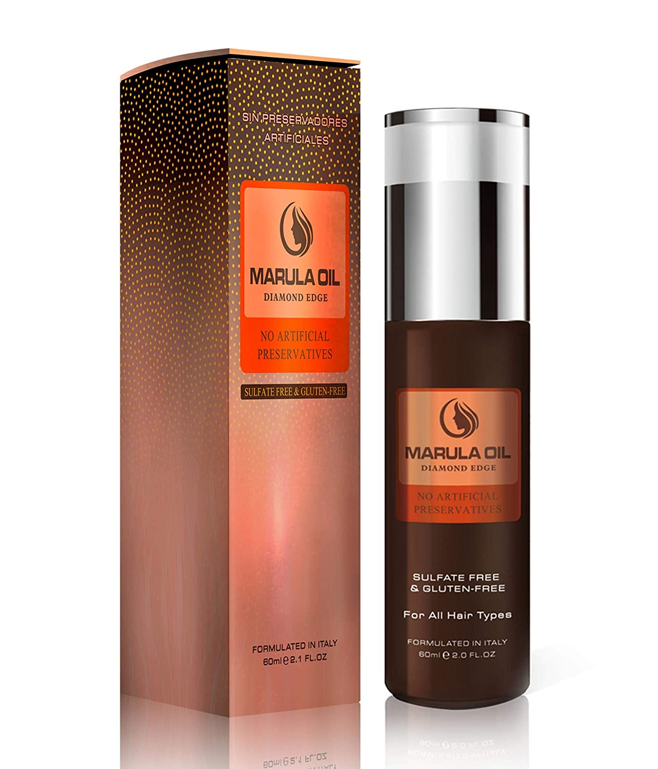 Nusma Marula Oil Diamond Edge Intensive Repair - Color Safe Treatment with Long Lasting Shine, Tangle and Frizz-Free Finish - Locks Moisture with Natural UV Protection For All Hair Types