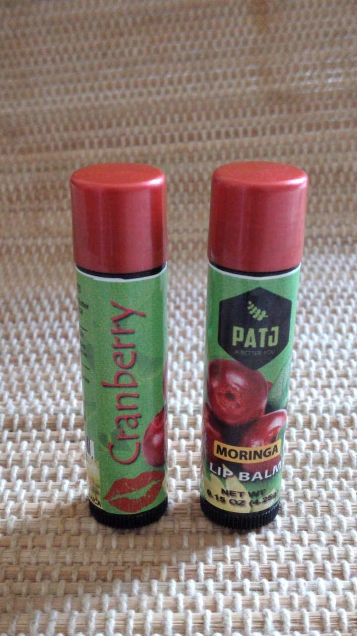 Patj International Cranberry Lipbalm Made with Raw Moringa (Cranberry)