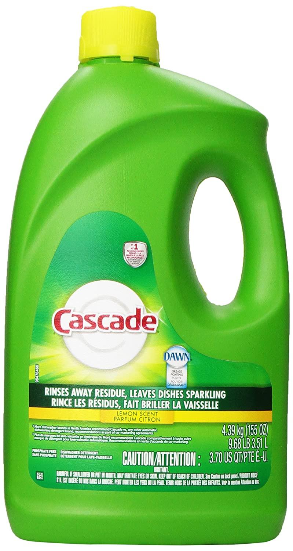 Cascade Dishwasher Detergent Gel, Lemon Scent, 155 oz