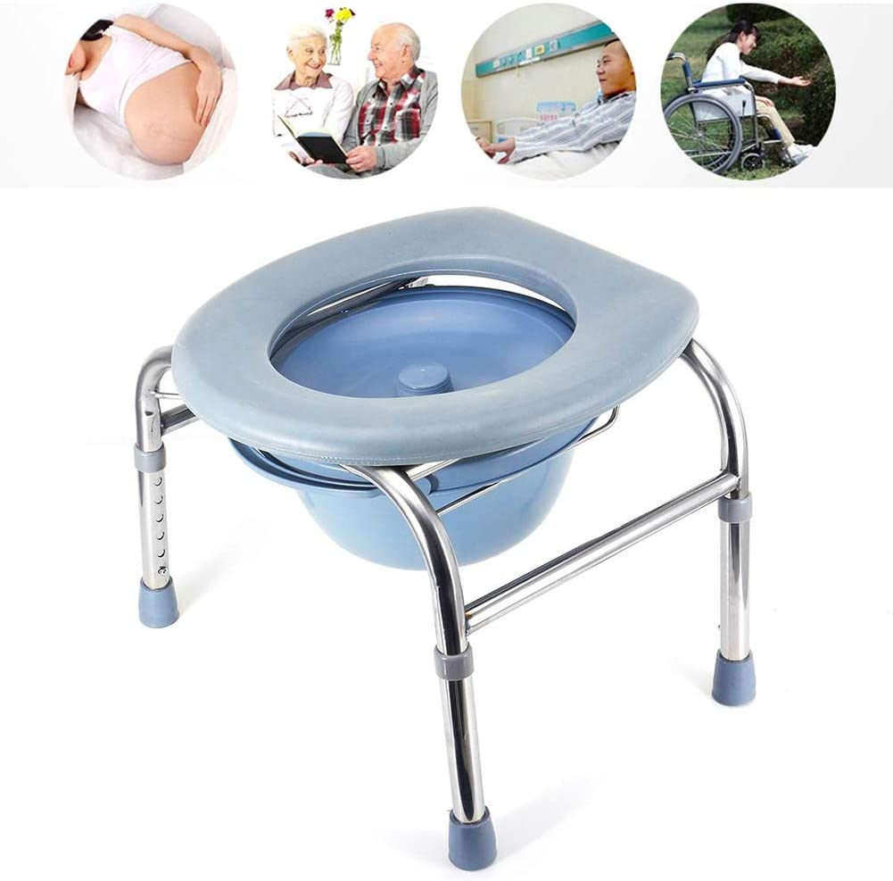 ZSBY Lightweight Commode,Portable Removable Bedside Toilet with Toilet, Strong Non-Slip Bearing and Easy to Clean, for The Elderly and The Disabled
