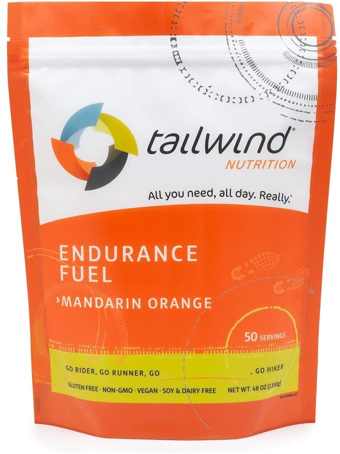 Tailwind Nutrition Mandarin Orange Endurance Fuel 50 Serving - Hydration Drink Mix with Electrolytes, Carbohydrates - Non-GMO, Gluten-Free, Vegan, No Soy or Dairy