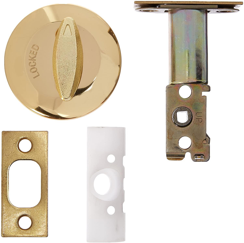 Kwikset 663 3 SCL SCS Single-Sided Deadbolt, Polished Brass