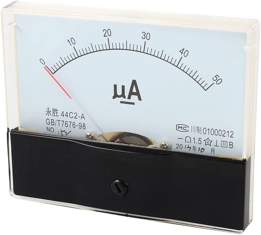DC0-50uA Fine Tuning Dial Square Type Analog Current Panel Amperemeter