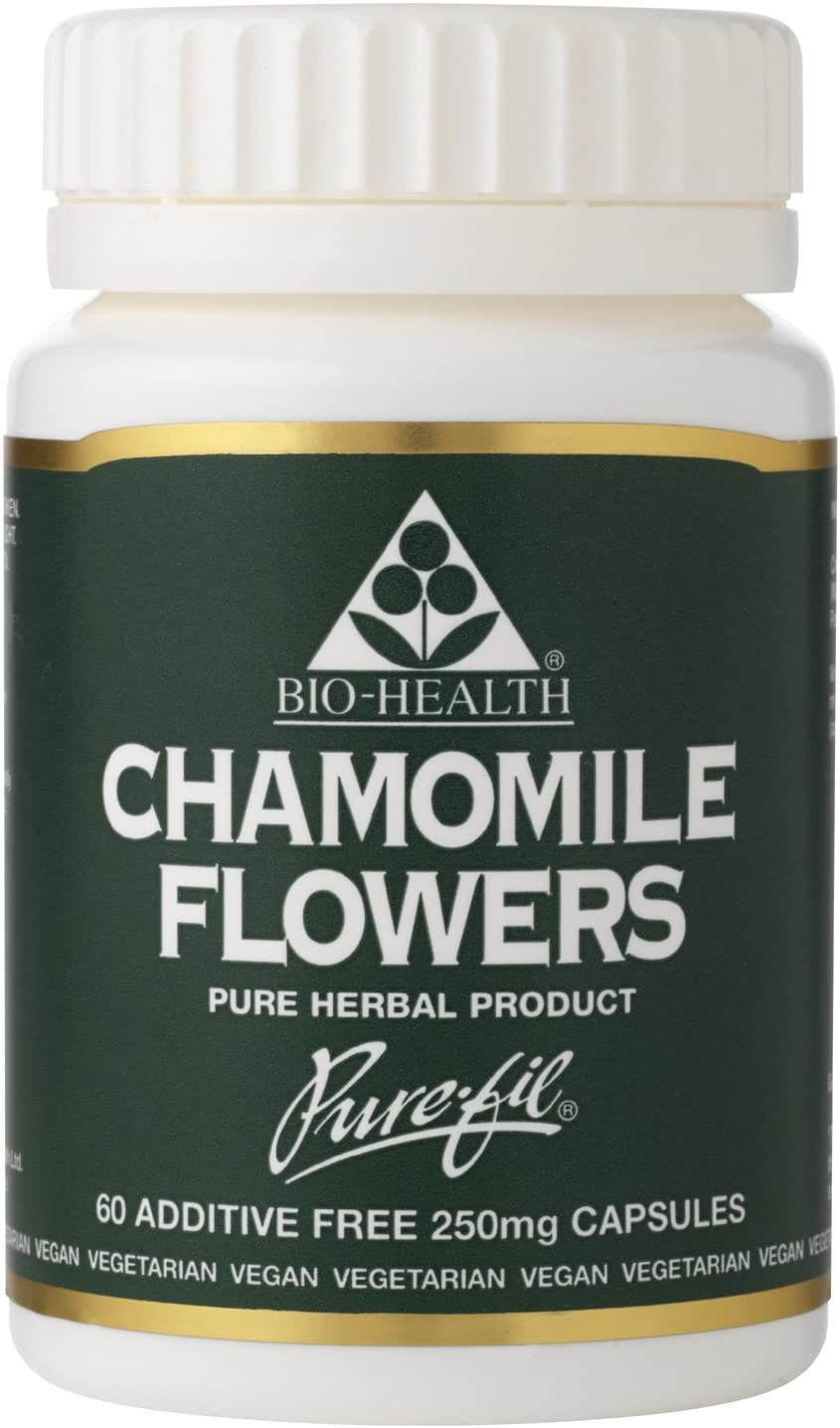 Bio-Health Chamomile Flowers 250 mg Powdered Herb 60 caps