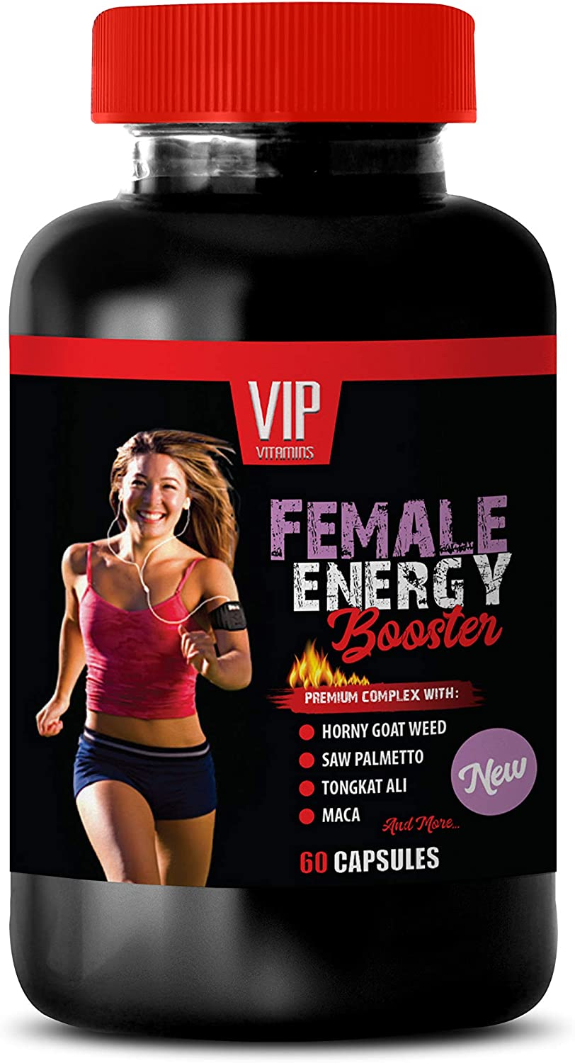 Mood and Anxiety Supplements - Female Energy Booster Complex - Increase Passion - Balance Mood - Horny Goat Weed Pills - 1 Bottle (60 Capsules)